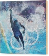 Olympics Swimming 01 Wood Print