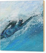 Olympics Swimming 03 Wood Print