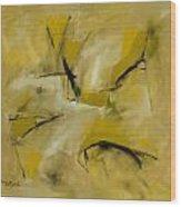 Om Path Wood Print