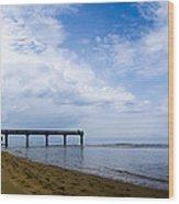 Omaha Beach Wood Print