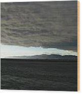 Ominous Black Storm Cloud Wood Print