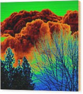 Ominous Cloudfront Wood Print