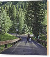 On A Country Road - Vail Wood Print
