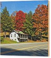 On A West Virginia Road Painted Wood Print