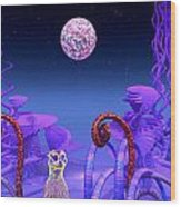 On Another Planet Wood Print by Douglas Barnard