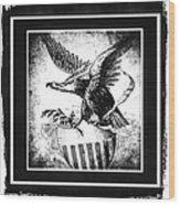 On Eagles Wings Bw Wood Print