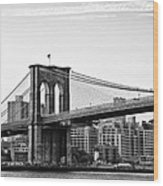 On The Brooklyn Side Wood Print by Bill Cannon
