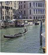 On The Canal In Venice Wood Print