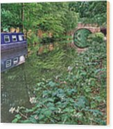 On The Canal Wood Print