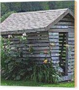 On The Farm - Corn Crib Wood Print