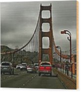 On The Golden Gate Wood Print