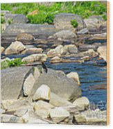 On The Rock Wood Print