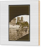 On The Seine - Paris Wood Print