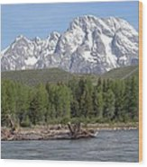 On The Snake River Wood Print