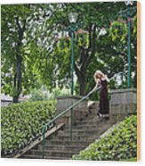 On The Steps Of History Wood Print by Karen Kennedy