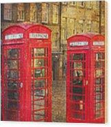 On The Streets Of Edinburgh  Wood Print