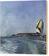 On The Water 2 - Venice Wood Print