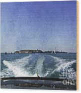 On The Water 5 - Venice Wood Print