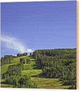 On Vail Mountain II Wood Print