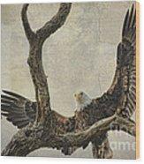 On Wings High Wood Print