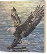 On Wings Of Eagles Wood Print by Cecilia Putter