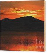 Onaping Canada Sunrise Wood Print