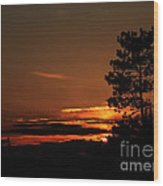 Onaping Canada Sunset 2 Wood Print