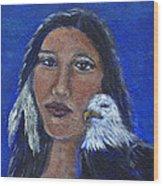 Onawa Native American Woman Of Wisdom Wood Print