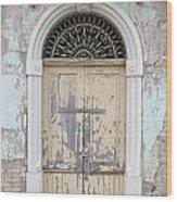 Once Proud Doorway Wood Print