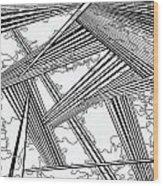 One 24 Wood Print