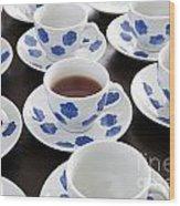 One Cup Of Tea Wood Print