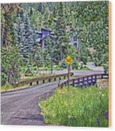 One Lane Bridge - Vail Wood Print