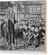 One-room Schoolhouse, 1883 Wood Print