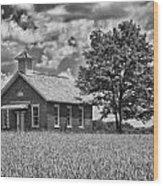 One Room Schoolhouse Wood Print