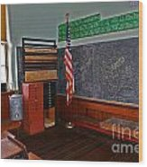 One Room Schoolhouse Wood Print