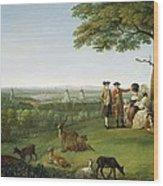 One Tree Hill - Greenwich Wood Print