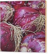 Onion Skins Wood Print