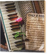 Only A Rose II Wood Print