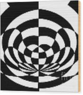 Op Art 2 Wood Print