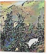 Opal Morning Wood Print
