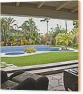 Open Air Luxury Patio Wood Print by Inti St. Clair