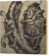 Open Heart Wood Print