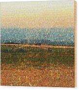 Open Horizon Wood Print by Denisse Del Mar Guevara