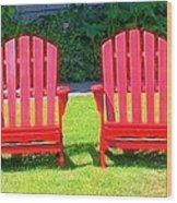 Open Seating Wood Print