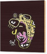 Open Wide Full Color Wood Print