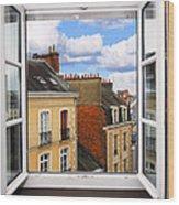 Open Window Wood Print by Elena Elisseeva