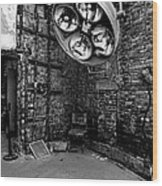 Operating Room - Eastern State Penitentiary - Black And White Wood Print