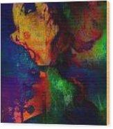 Ophelia In Neon Wood Print by Adam Kissel