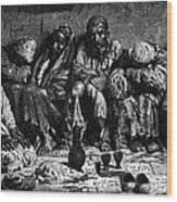 Opium Addicts, 1868 Wood Print