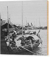 Opium Trader - Hong Kong Harbor - C 1901 Wood Print